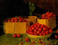preparing strawberries by a. platte little