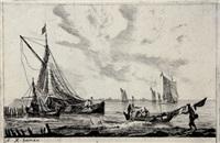 twede deel. verscheyde binne-waters (set of 8) by reinier nooms