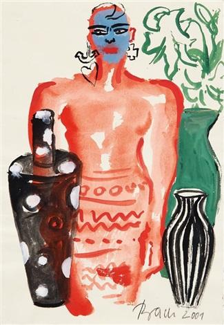 mit drei vasen by elvira bach