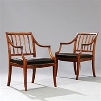 armchairs (pair) by frits henningsen