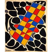 no. 31 du noir autour de couleurs by alexander calder