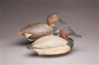 canvasback (+ canvasback; pair) by lemuel t. and stephen ward