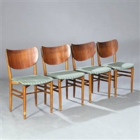 chairs (set of 4) by eva and nils koppel