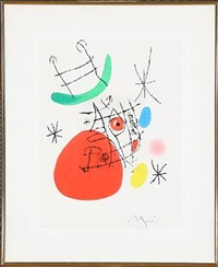 composition from the series el innocente by joan miró