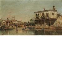 canal in venice by antonio maría de reyna manescau