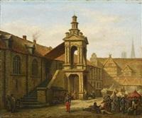 marktplatz bei rouen by jean baptiste van moer