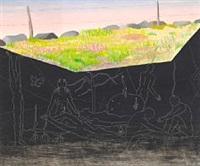 surrealistic composition by vilhelm bjerke-petersen