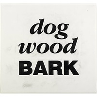 dog wood bark by kay rosen