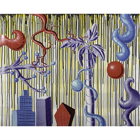 juicy jungle and untitled 2 works by kenny scharf