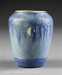 vase decorated by aurelia coralie arbo by newcomb college pottery
