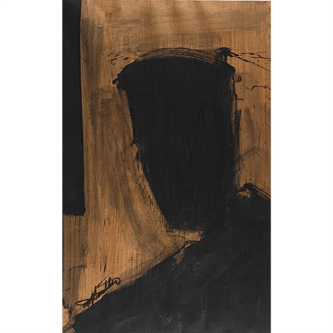untitled head shadow by richard hambleton