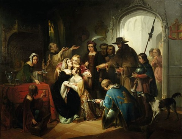 Historische Szene im Interieur von Jan Hendrik van de Laar auf artnet