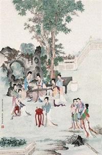 奏乐图 by liu lingcang