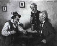drei bauern am stammtisch by a. zimmermann