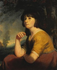portrait of a young girl, said to be lady bathurst by john opie
