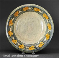 bowl decorated by mary williams butler by newcomb college pottery