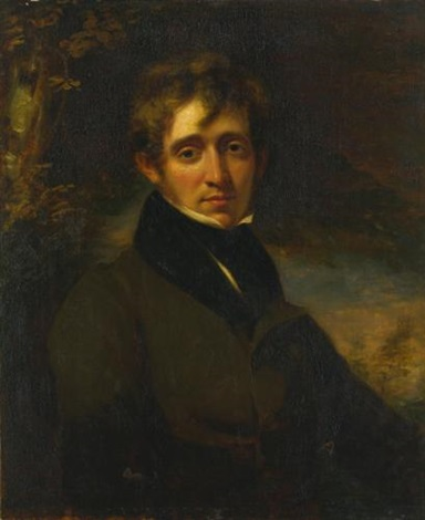 portrait of a man said to be the poet thomas moore by john opie