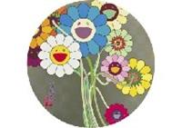 flower for algernon (set of 3) by takashi murakami