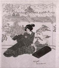 japanerinnen in verschiedenen interieurs,   samurai...wurdentrager der orthodoxen kirche by margarethe strasser