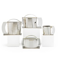four-piece coffee and tea set by jean emile puiforcat