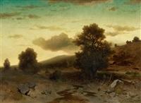 landschaftsstudie im abendlicht by andreas achenbach
