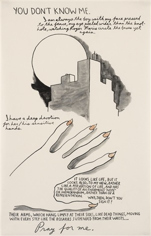 you don't know me... by raymond pettibon