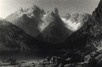 der lago di lantro (dürrensee) mit dem monte cristallo by marie von kendell