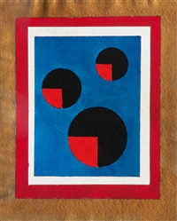 six variations with circles (4 works) by thilo maatsch