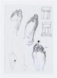 komposition (fußstudien) by markus lüpertz