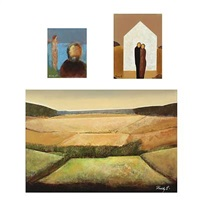 landscape (+ 2 others, smaller; 3 works) by freddy eriksen