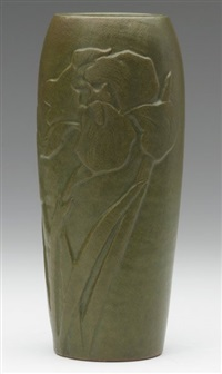 finely carved ovoid vase by arequipa pottery