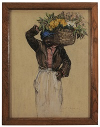 hagar, with basket on her shoulders by elizabeth o'neill verner