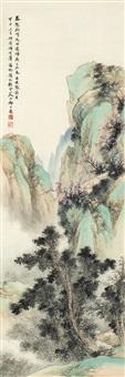 仿李晞古笔意 (landscape) by qi dakui