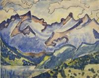 schweizer berglandschaft by august babberger