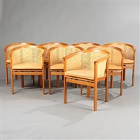 kongeserie easy chairs (set of 8) by rud thygesen and johnny sorensen