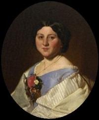 damenporträt (+ herrenporträt; 2 works) by heinrich von angeli