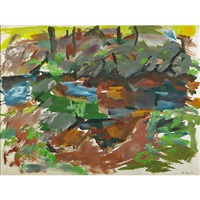 untitled (catskill series: rocks and trees) by elaine de kooning
