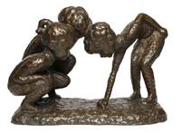 trois enfants curieux by koos van der kaay