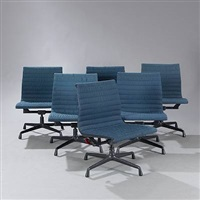 aluminium group (model ea318) (set of 6) by charles eames