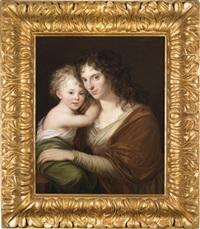porträt einer mutter mit ihrem kind by friedrich georg weitsch