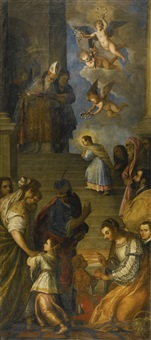 the presentation of the virgin mary by titian (tiziano vecelli)