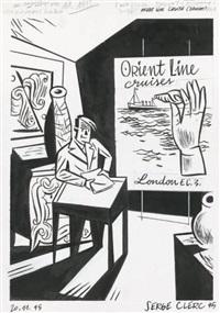 un après-midi à drouot, page 22 (for orient line cruise) by serge clerc