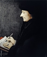 selective attention: portrait of erasmus, holbein by clegg & guttman