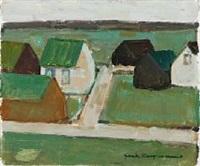 faroese village by jack kampmann