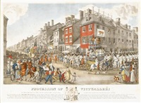 procession of victuallers of philadelphia, on the 15th of march by john lewis krimmel