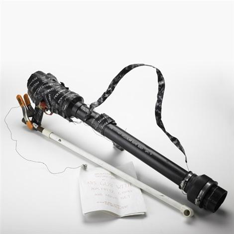 abs gun with pom fritz choke and aqua net by jason rhoades
