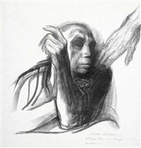 ruf des todes, pl. 8 (from tod) by käthe kollwitz