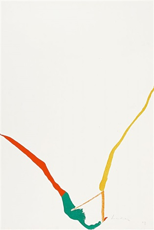aus what red lines can do red orange green gold from 5 serie by helen frankenthaler