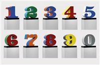 numbers one through zero by robert indiana