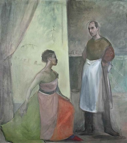 annunciation in the studio by ansel krut